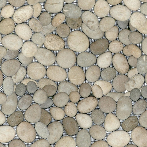 Clear View Mosaic Tile: Java Tan Pebble Tile